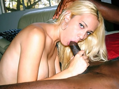 Blonde Trina Slurping a blackcap Dick
